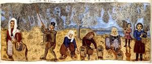 Μάζεμα ελιάς - Πίνακας - Θεόφιλος