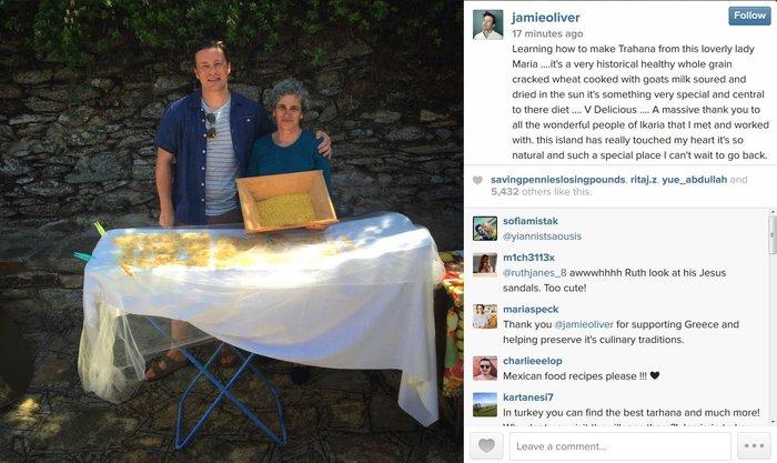 Στην Ικαρία για να κλέψει τα μυστικά μακροζωίας Τζέιμι Ολιβερ [Εικόνες]