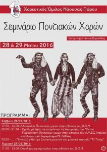 Σεμινάριο ποντιακών χορών από τον Χορευτικό Όμιλο Νάουσας Πάρου