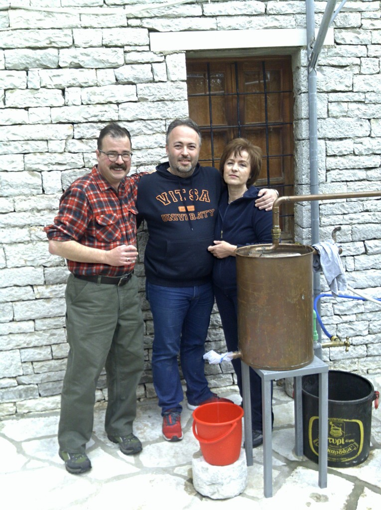 Making tsipouro with Alexandros Spyrou